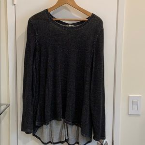 Eileen Fisher Tencil /Cotton Long-sleeve sweater